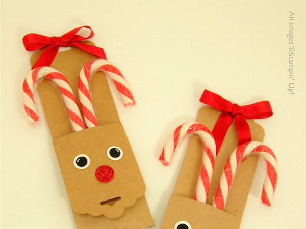 Reindeer Candy Cane - Christmas Eve Box & Stocking Fillers