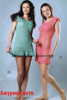 Ажурные вязаные платья