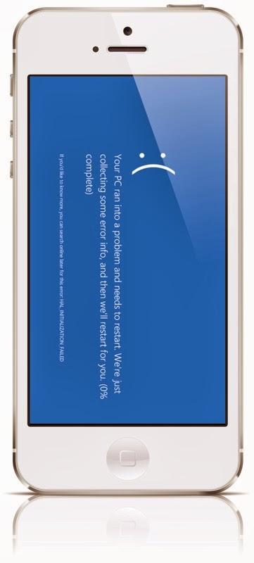 Blue Screen pada iPhone 5S