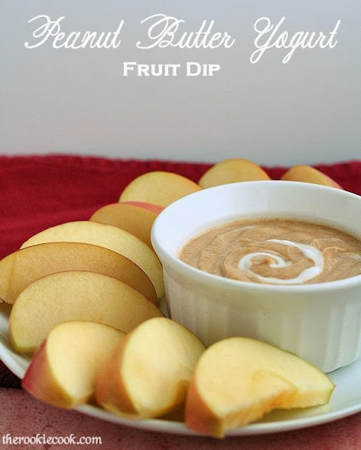 Peanut Butter Yogurt Fruit Dip: A perfectly healthy appetizer for your Halloween party! ~ The Rookie Cook