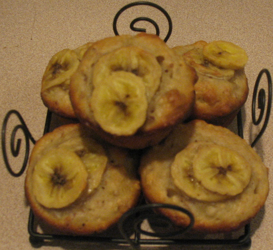 No Butter Banana Mini Muffins