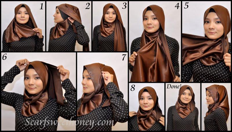 Tutorial Cara Memakai Jilbab Terbaru