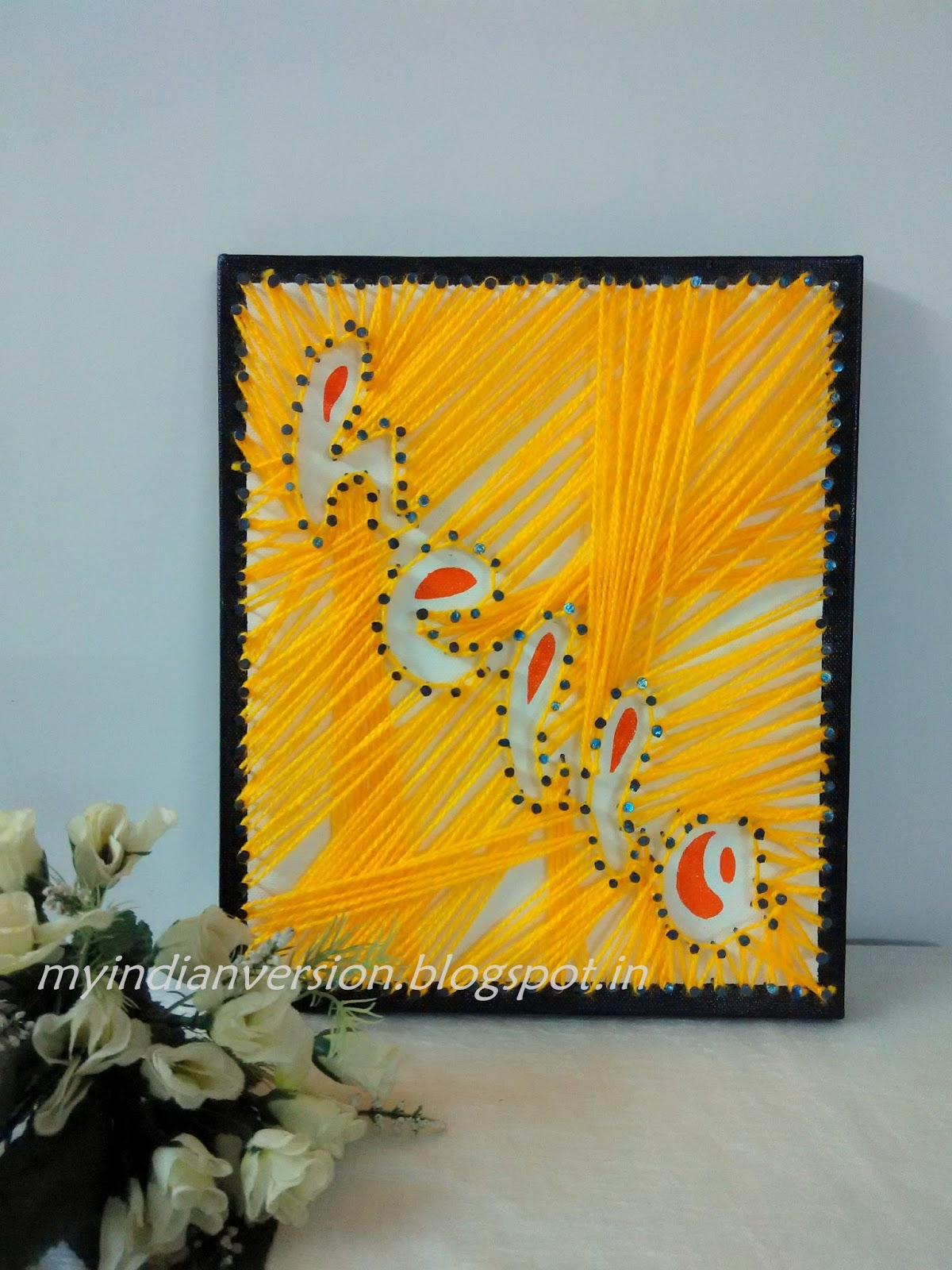 My Indian Version: Canvas DIY : String Art