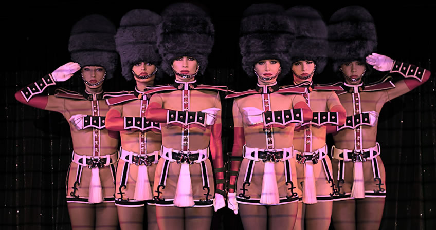 Crazy horse girls doing their toy soldier routine