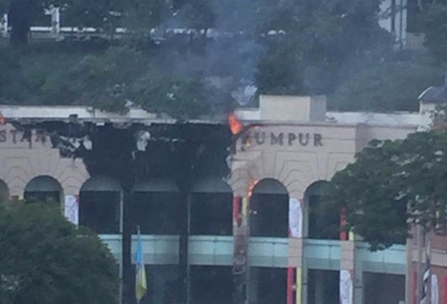 Perpustakaan Awam Kuala Lumpur Terbakar