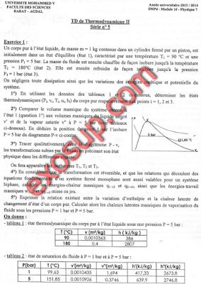 des td Corrigés thermodynamique 2 smp s3 fsr
