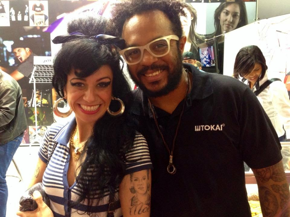 Sósia Amy Winehouse e Marcelo Marrom no Expo Music 2014!