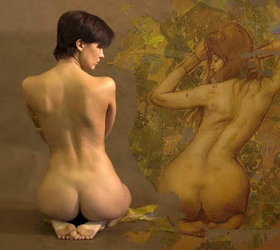 Hiperrealismo Mujer Desnudo