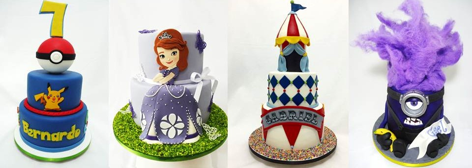 Bolos de Pasta Americana - Bolos Personalizados - Cupcakes - Brigadeiro - Gabriela Lemos Cakes