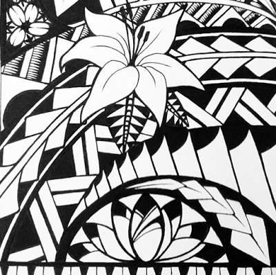 how to draw easy samoan patterns