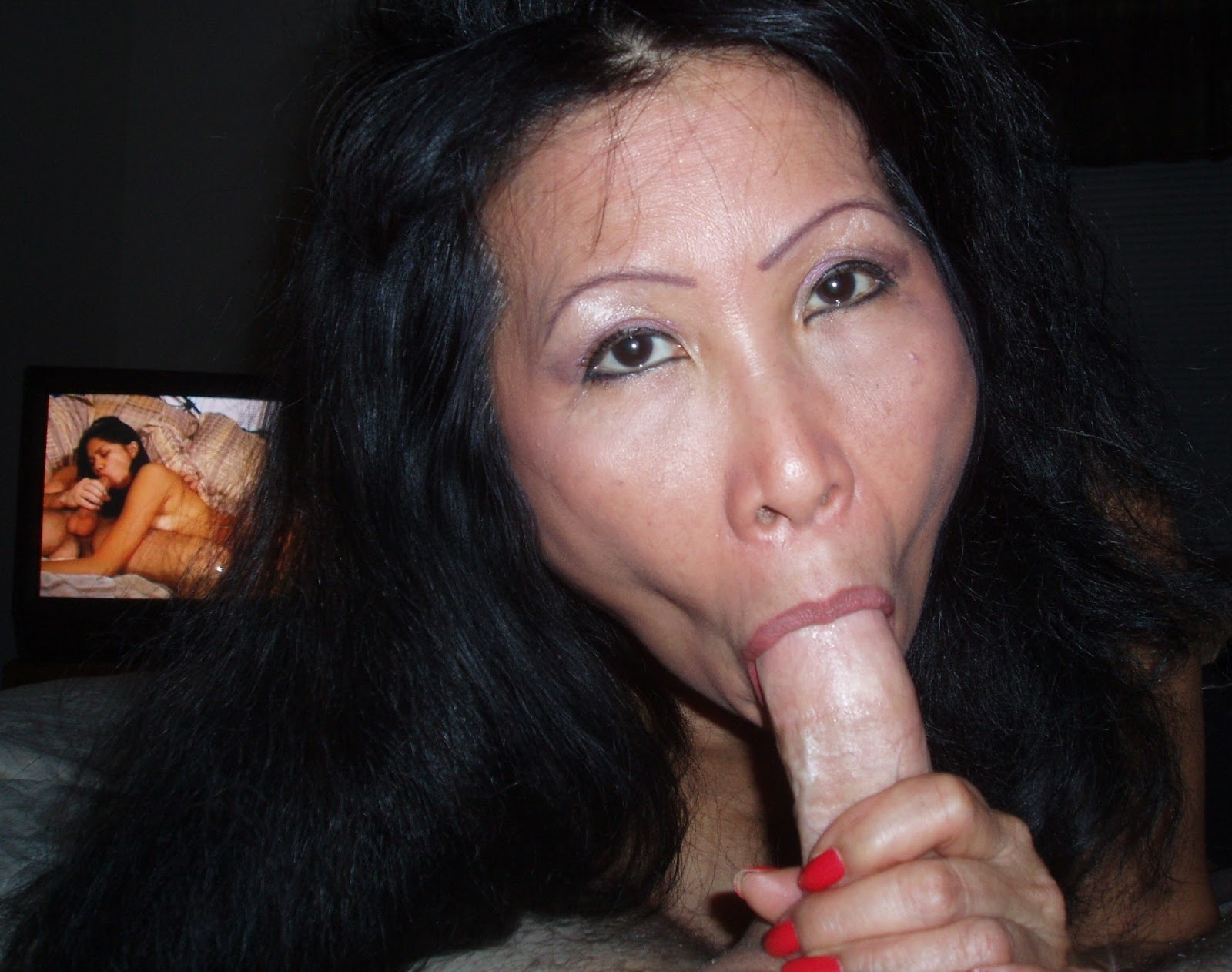 That's hot asian mature dick that