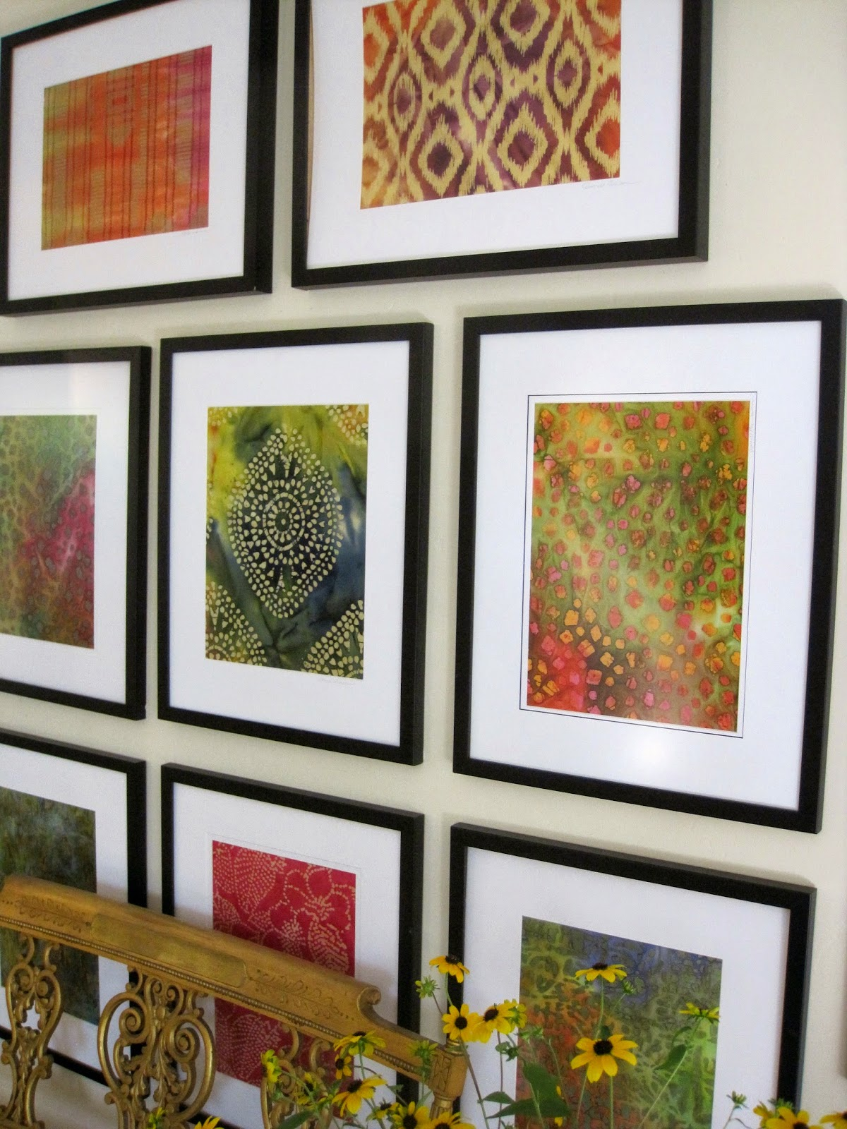 diy framed batik fabric