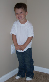 My son in his Denizen blue jeans
