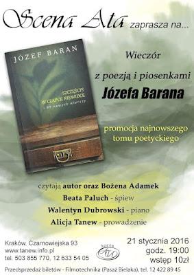 Zaproszenie na spotkanie z Józefem Baranem w Krakowie