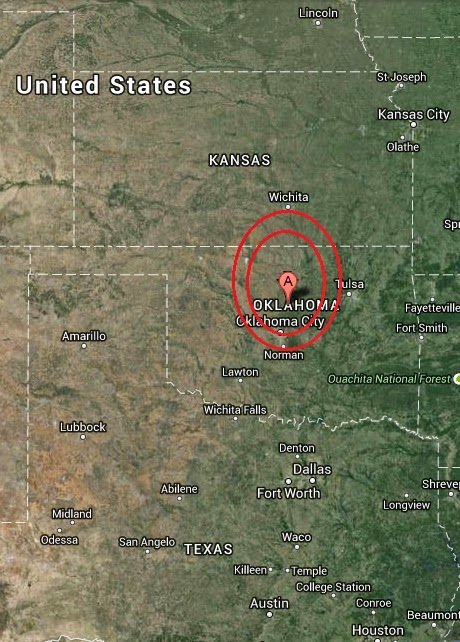Magnitude 2.9 Earthquake of Langston, Oklahoma 2014-10-22