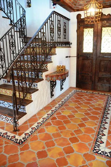 Terra cotta tile or saltillo tile is saltillo tile and Spanish clay tile