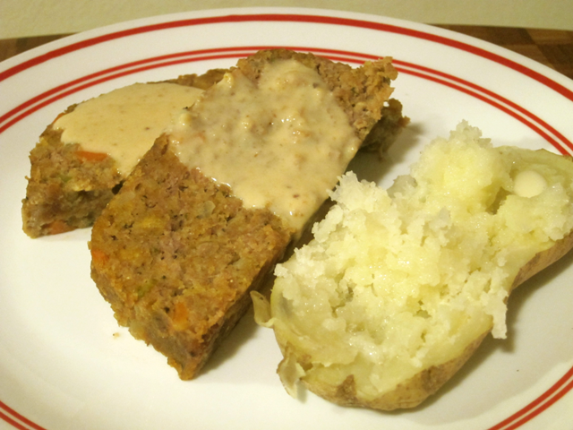 Cooking at Café D: Tasty (Seriously) Turkey Meatloaf With Pan Gravy