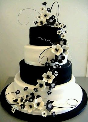 Black And White Wedding Cake 29 Superb Wedding Cakes in Black