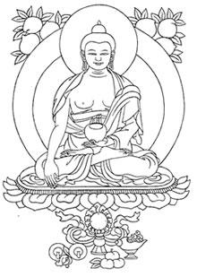 Prabin s blog buddha jayanti for Buddha coloring pages