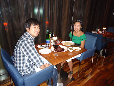 Ed and Lady in Filini Restaurant, Radisson Blu Hotel, Yas Island Abu Dhabi