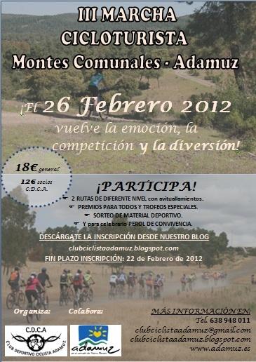 III MARCHA CICLOTURISTA DE LOS MONTES COMUNALES (Adamuz) 26 feb 2012 III+MARCHA+CICLOTURISTA_26febrero2012_MontesComunales