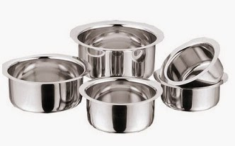 Kitchen Essentials Tope Set of 5 worth Rs.595 for Rs.349 Only (Price Valid for Limited Period)