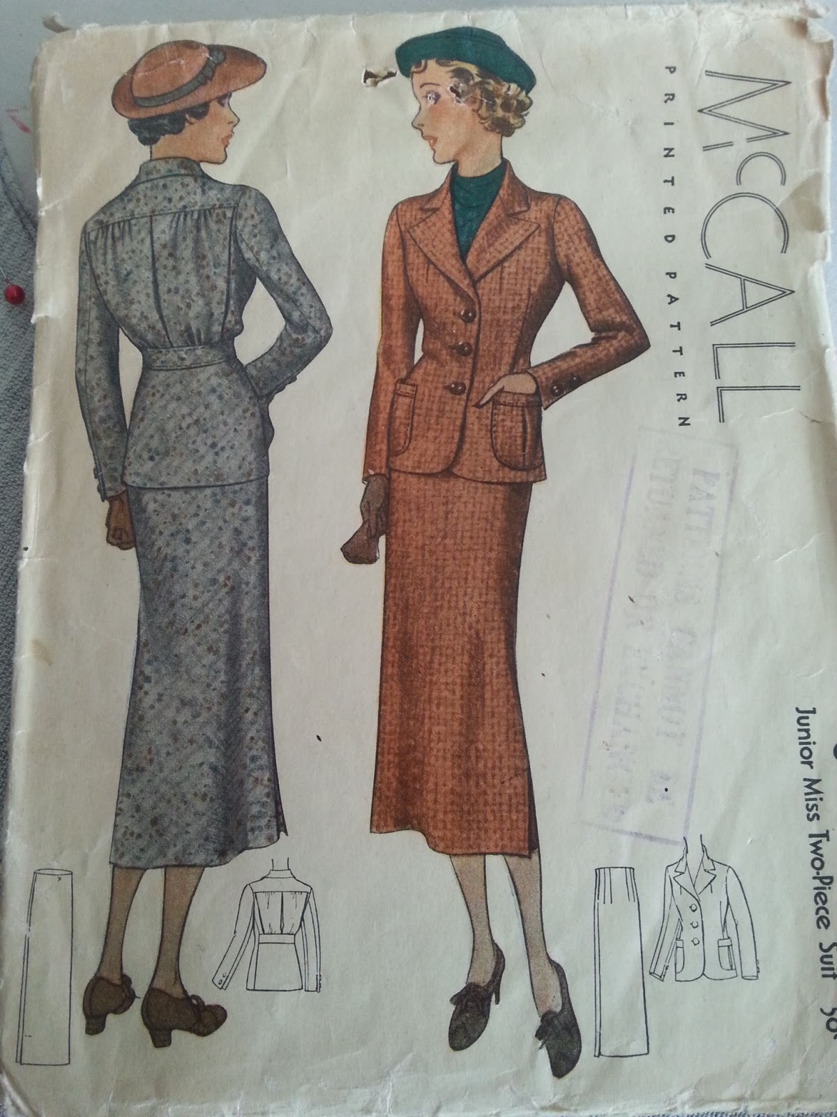 McCall 8420 Junior Miss TwoPiece Suit 1935