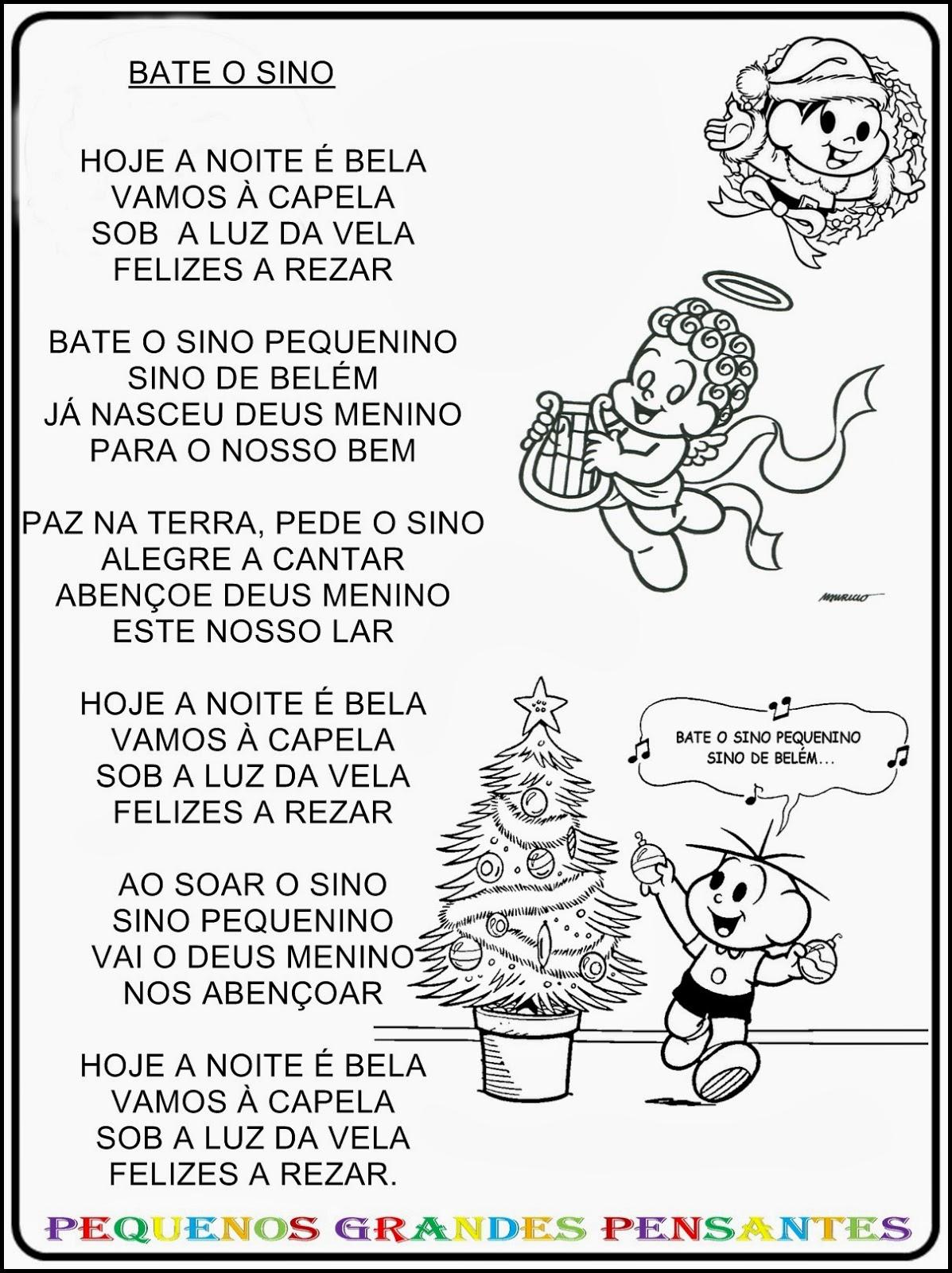 Muitas vezes Pequenos Grandes Pensantes.: Músicas Natalinas Para Educação Infantil PM36