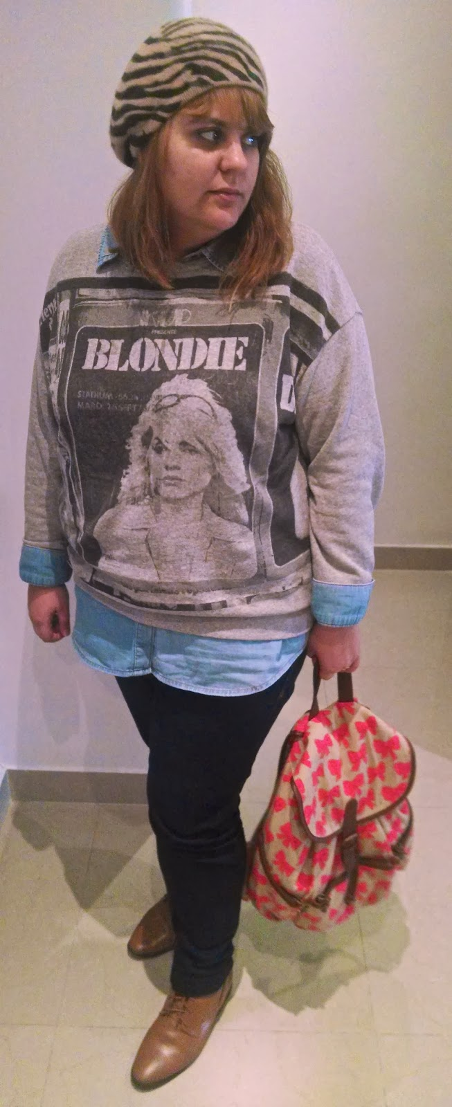 Bonne blondie the bows and the animal print for Primark button down shirt