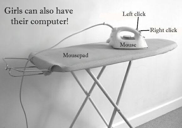 irons, ironing boards,