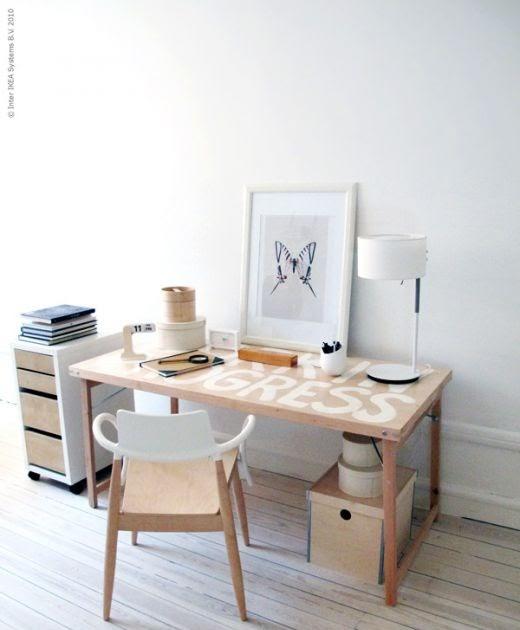 Ikea hack mesa plegable como mesa de trabajo for Mesa plegable trabajo