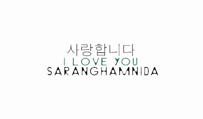 I Love You in Korean