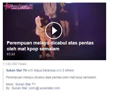 Video Peminat KPOP Dicium dan dipeluk diatas pentas !!
