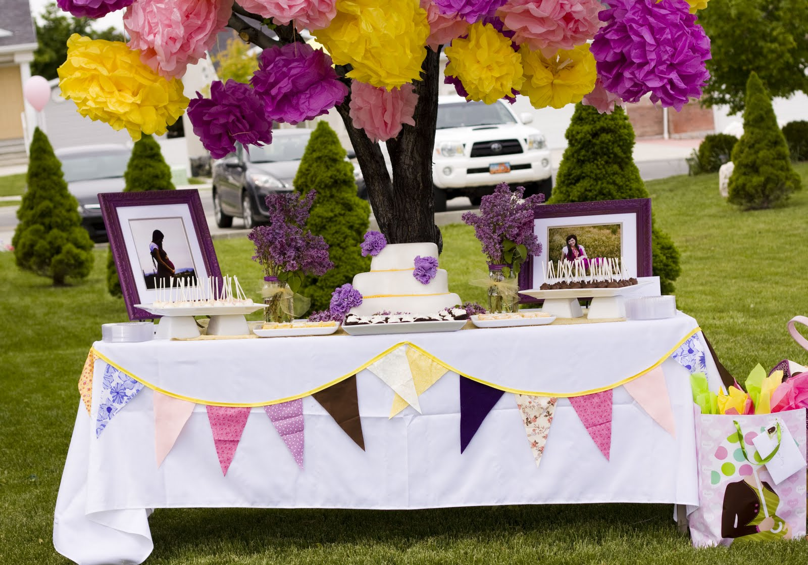Kara 39 s party ideas lilac s lemonade baby shower kara 39 s for Baby shower party decoration ideas