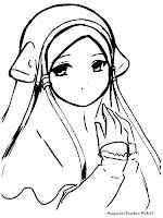 Mewarnai Gambar Anak Muslim Memakai Jilbab