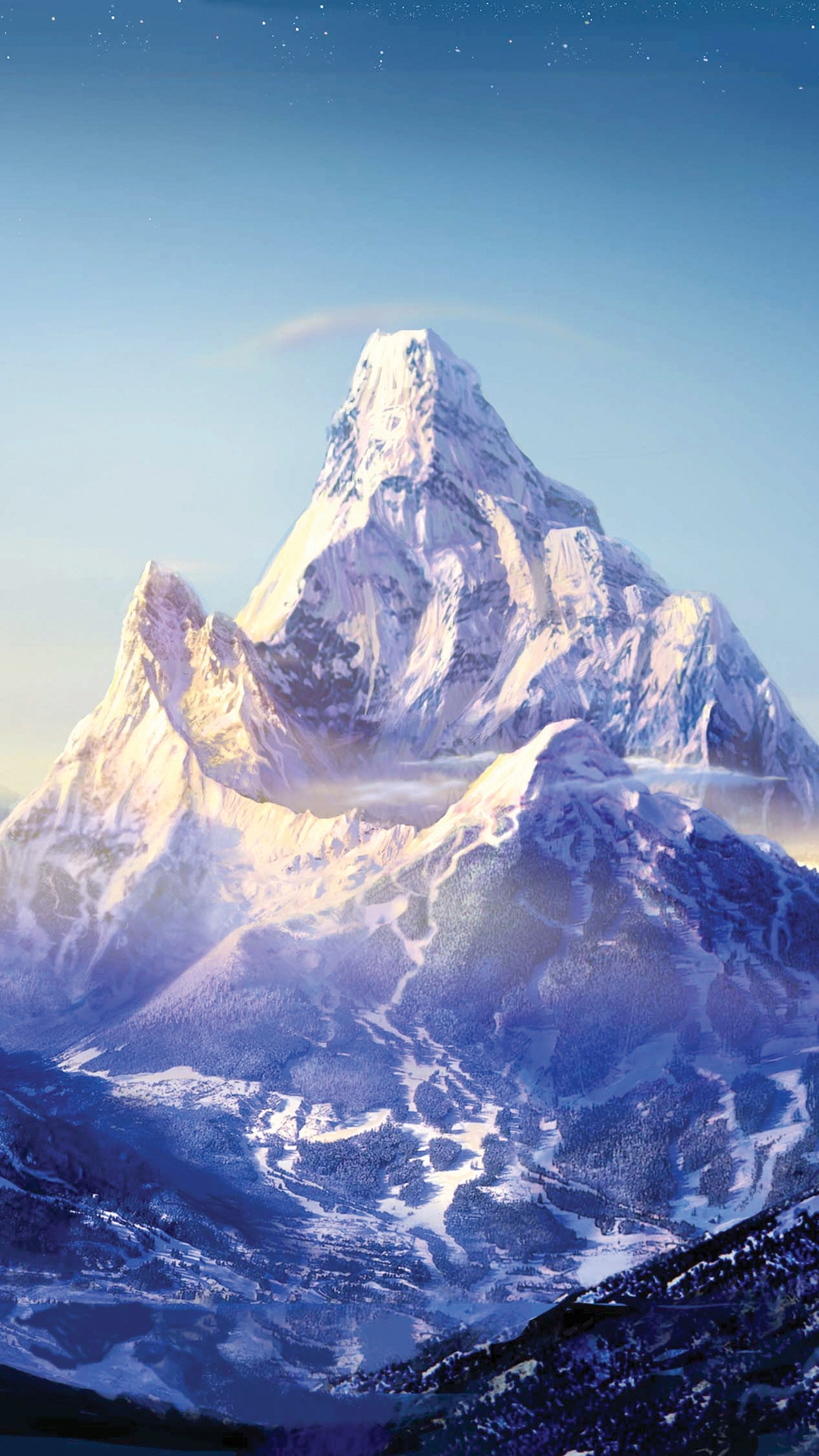 Download Wallpaper Mountain Hexagon - everest-mountain-snow-stars-galaxy-note-hd-wallpaper  Picture_562787.jpg