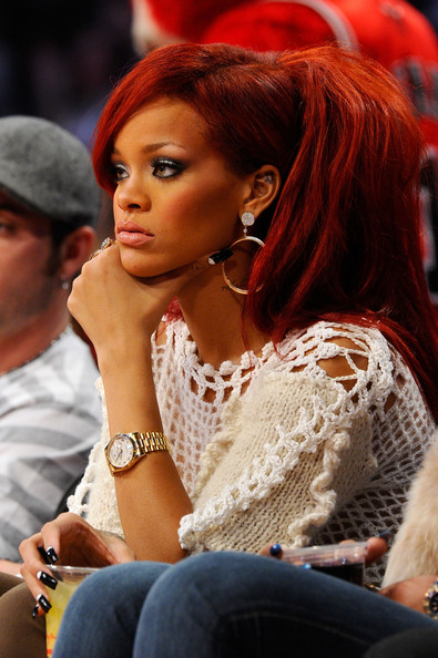 rihanna red hair wallpaper. pictures rihanna hot red hair.
