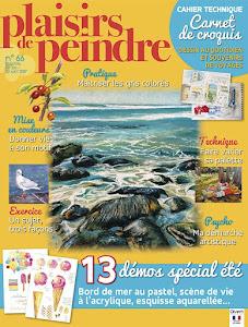 Ma dernière parution : Plaisirs de Peindre n°66 (juil./août 2017)