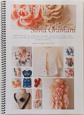 Apostila de crochê, como fazer cachecol de flores de croche