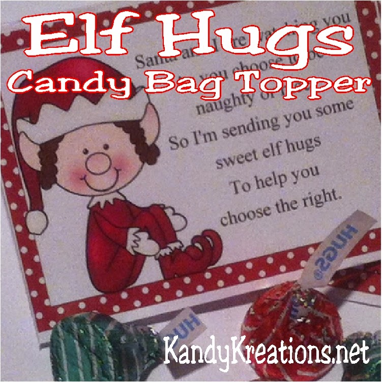 Elf kisses bag topper printable everyday parties for Elf on the shelf chocolate kiss