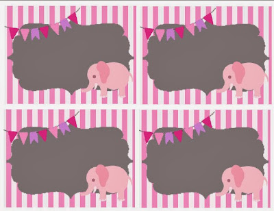 Elephant Party Free Printables