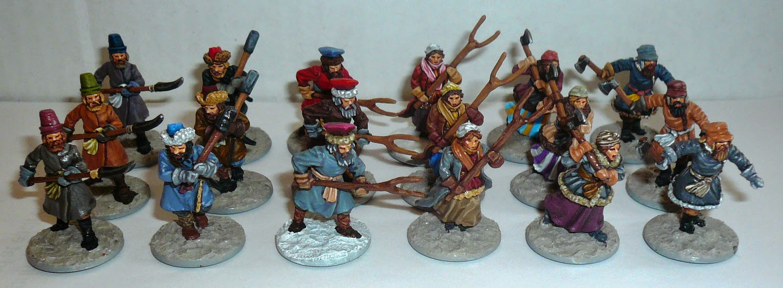 Perry miniatures - Russian Peasants
