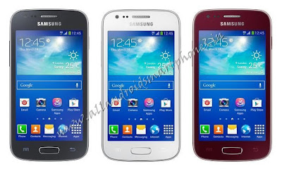 Samsung Galaxy Ace 3 Android Smartphone Black White Dark Red Front Image & Photos Review