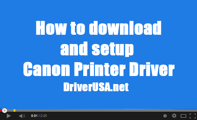 How to download & install Canon LBP5000 inkjet printer driver
