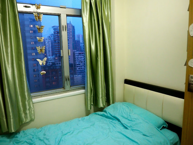 Room tour | bedroom with view out the window in my Hong Kong apartment
