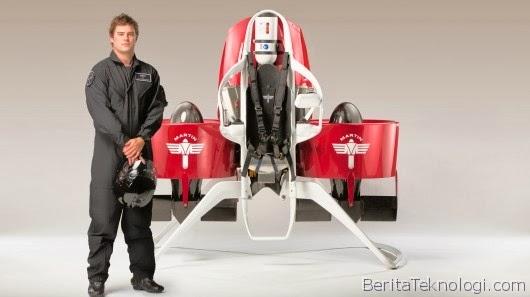 Terbang ala Superhero dengan Kecepatan hingga 74 Kilometer Perjam Menggunakan Martin Jetpack