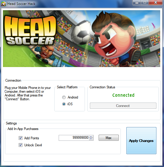 Head Soccer Hack Tool
