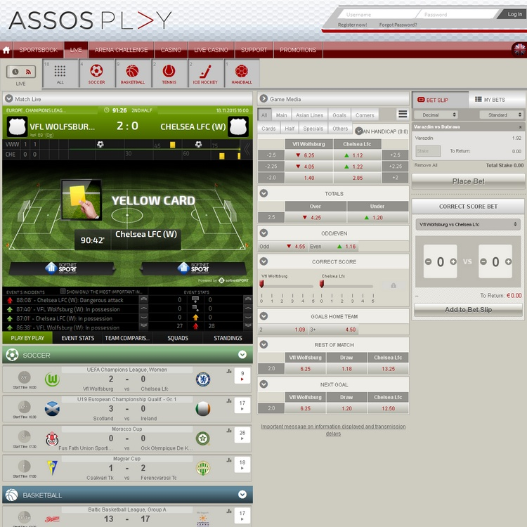AssosPlay Live Betting Offers