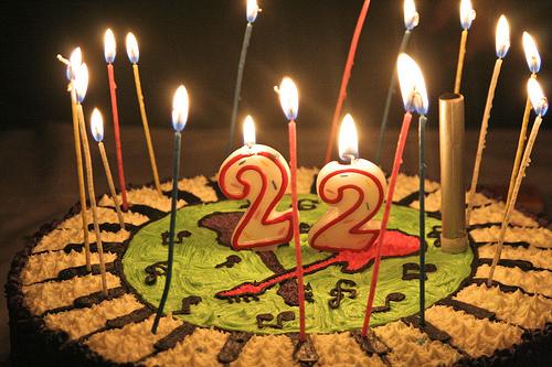 Поздравления с днем рождения в 22