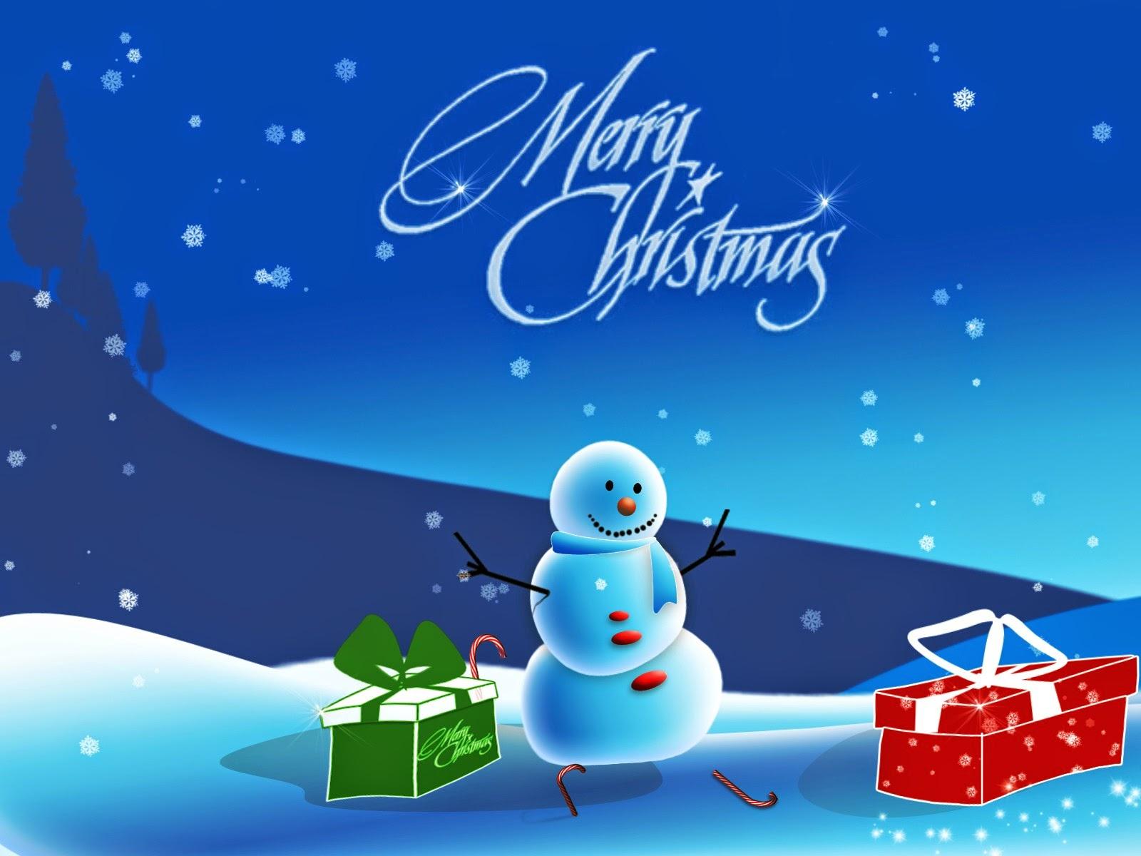 feliz navidad en la nieve